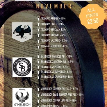 Novembers Featured Breweries