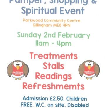 Pamper, Shopping & Spiritual Event