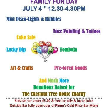 Family Fun Day Sunday July 4th