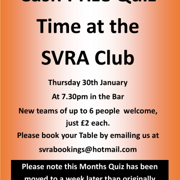 SVRA CASH PRIZE QUIZ DATE CHANGE