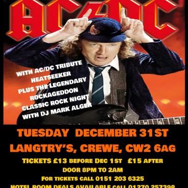 Rockageddon NYE AC/DC Heatseeker
