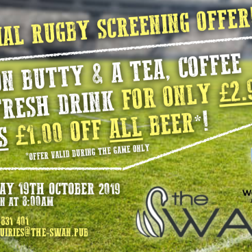 Special Rugby Screening Offer!