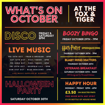 - What's On October -
