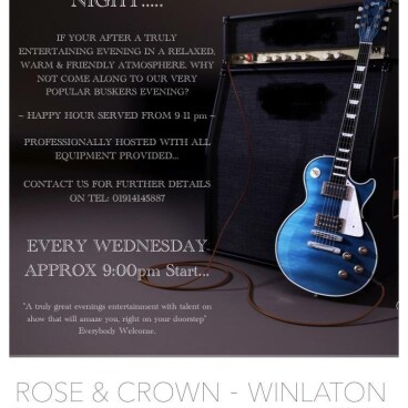 BUSKERS NIGHT - HAPPY HOUR!