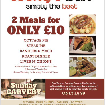 ANY 2 MEALS £10