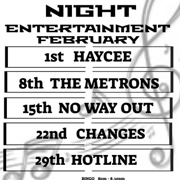 February Saturday night entertainment