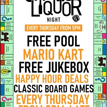 Games & Liquor NIght
