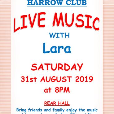 LIVE MUSIC WITH LARA