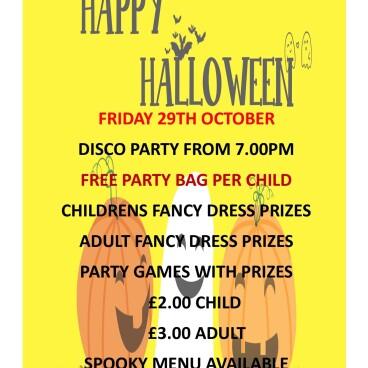 Halloween Disco & Party - October 29th
