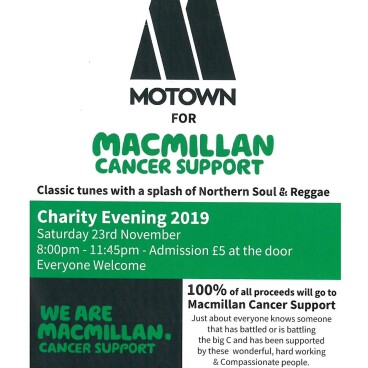 Motown for macmillan cancer support