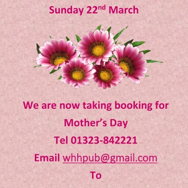 Mothers Day Sunday March 22nd