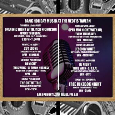 Bank Holiday & more...