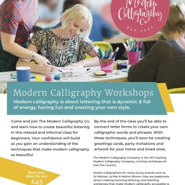 Beginners Modern Calligraphy Workshop