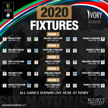 SIX NATIONS RUGBY LIVE AT IVORY.
