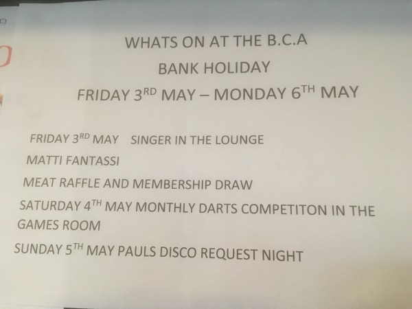 WHAT'S ON AT THE BCA