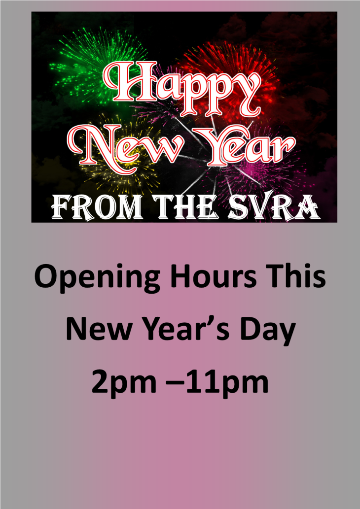 Opening Hours This New Year's Day