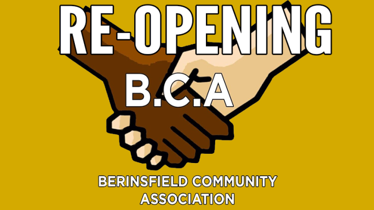 BCA Re-Opening on MONDAY 6th July