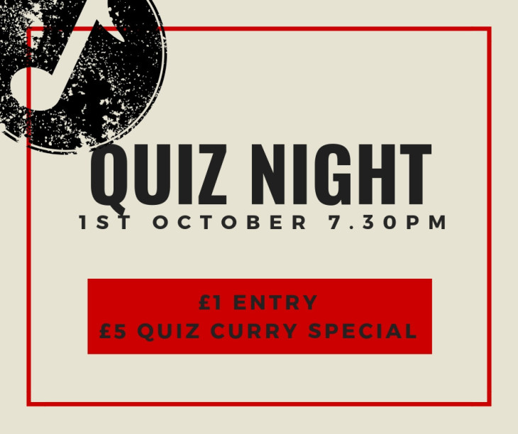 Our first ever pub quiz!
