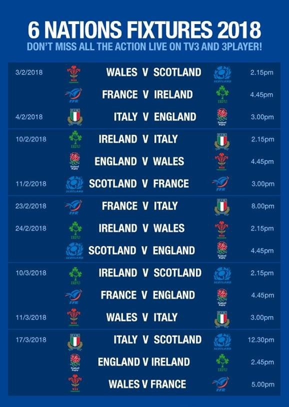 6 Nations Rugby live at Ivory