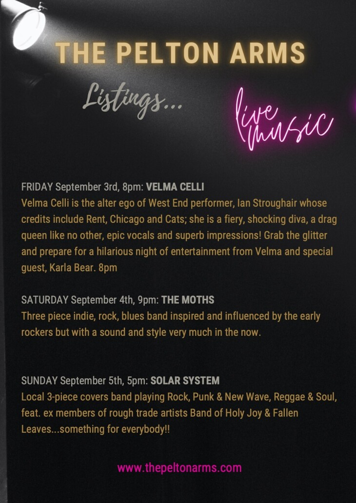 FREE LIVE MUSIC ALL WEEKEND