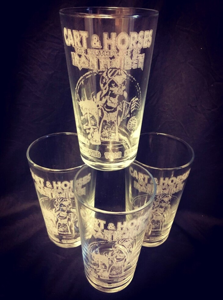 Cart & Horses WY2020 Pint glass 1/100