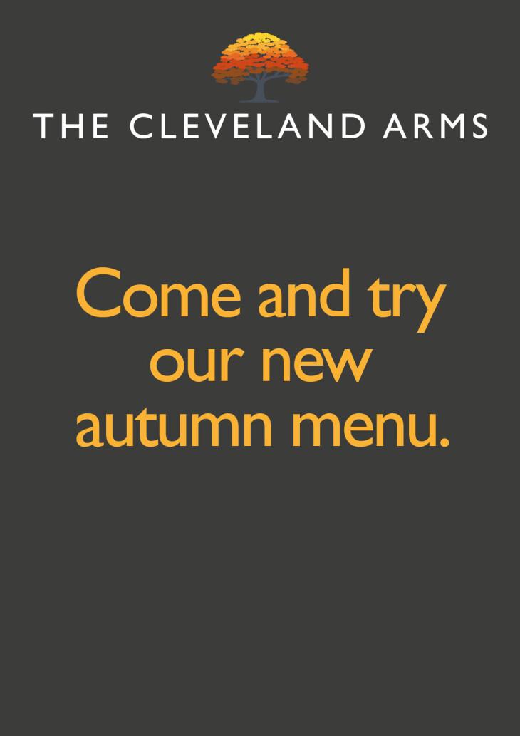 Autumn menu launched!!