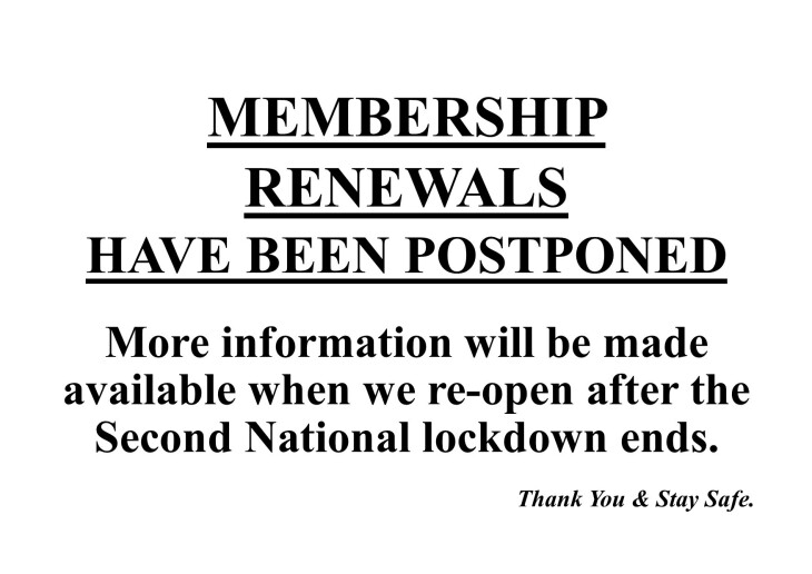 Membership Renewals Postponed