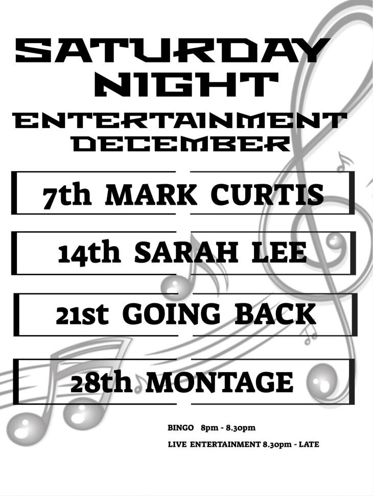 December Saturday Night Entertainment