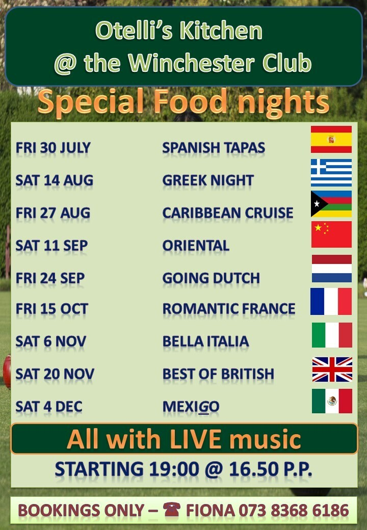 Change to Special Food Nights dates.