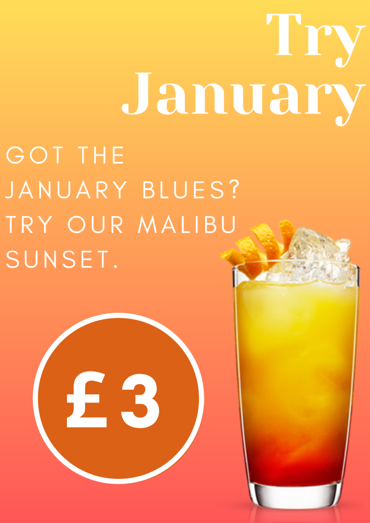 January offers Cocktail of the  month