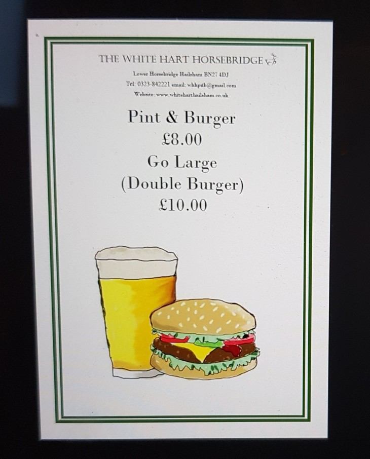 Pint & Burger Deal.