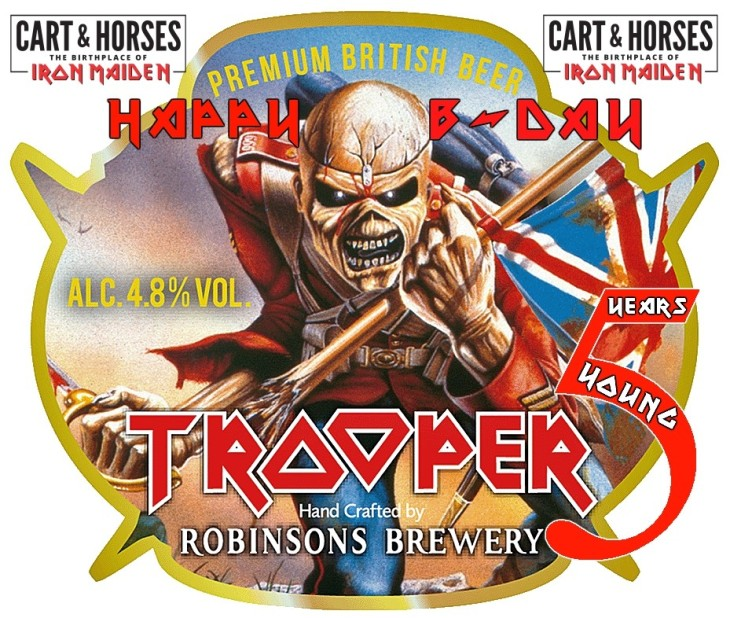 Iron MaidenTrooper beer is 5 this May