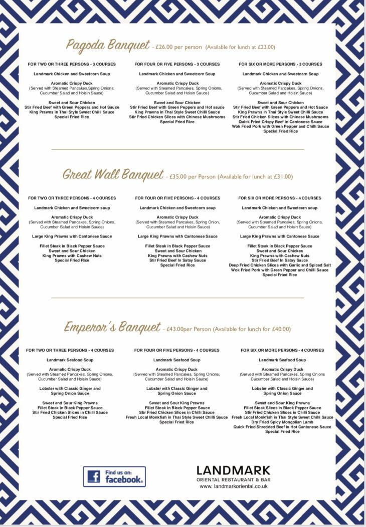 Landmark menus.