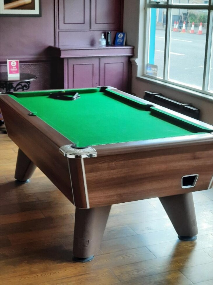 Pool Table now open