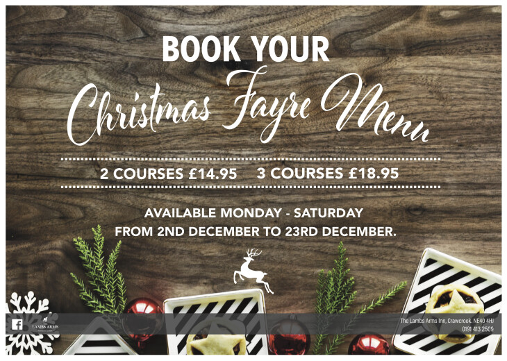 Book your Christmas fayre now