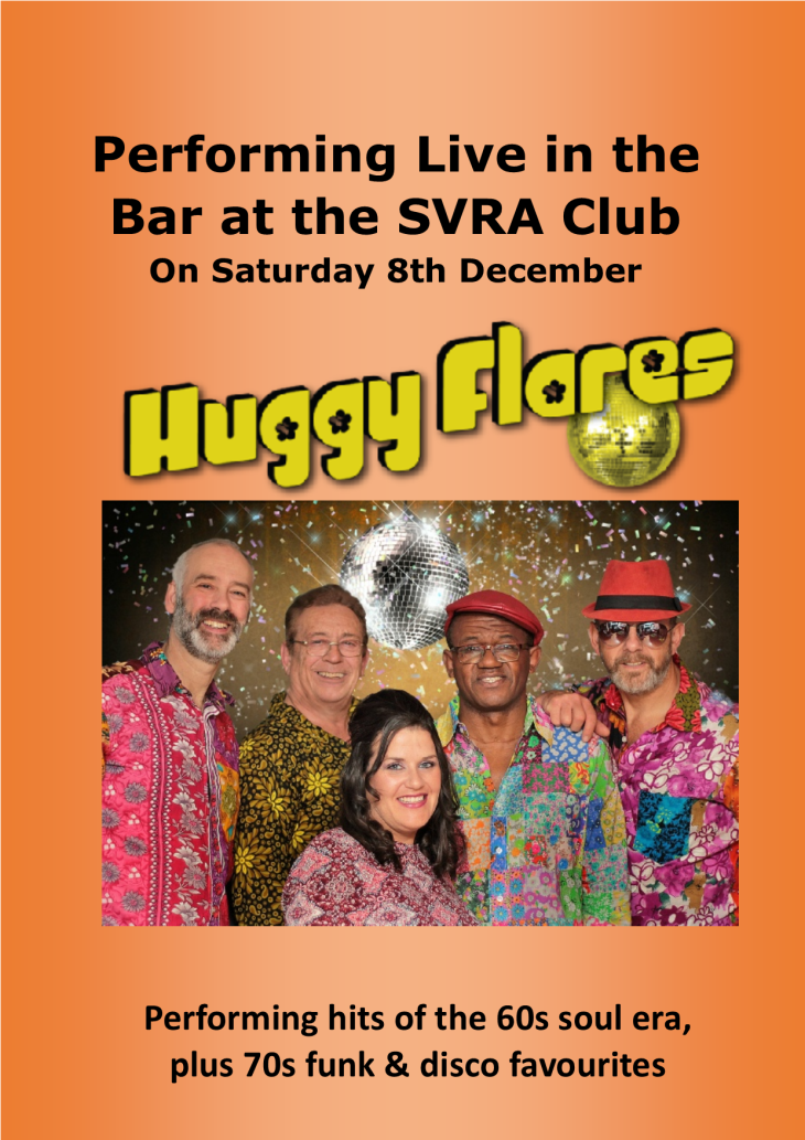 The Huggy Flares Live this Saturday