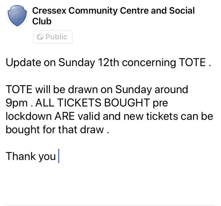 Club update - Tote