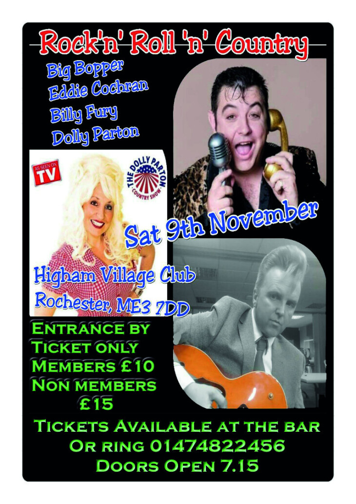Cabaret Show Saturday 9th November