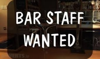 PART TIME BAR STAFF REQUIRED