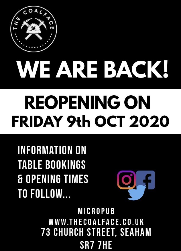 **Re-opening date announced!**