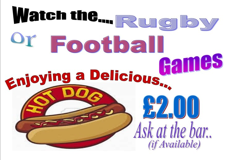 Hot Dogs on Sale for Football & Rugby