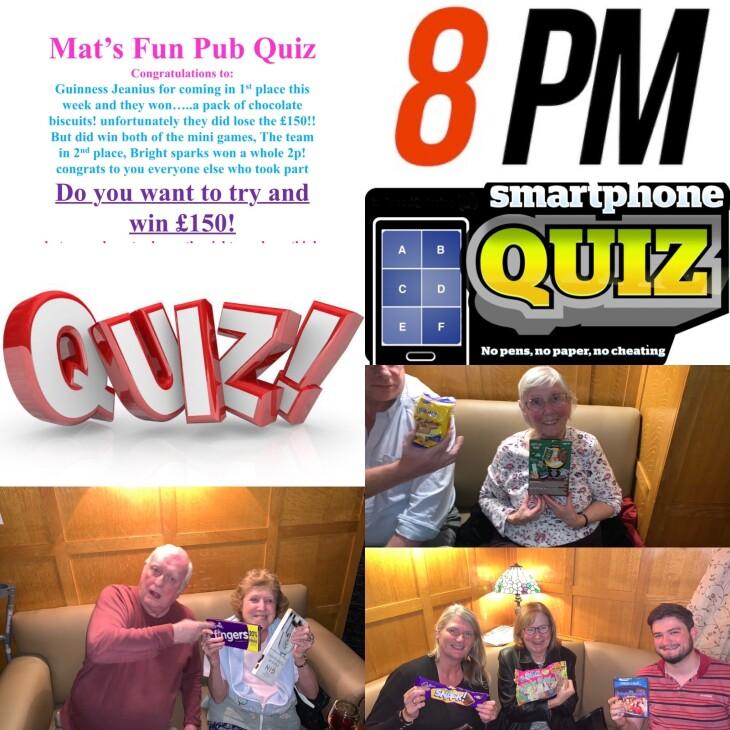 Last nights Mat's Fun Pub Quiz