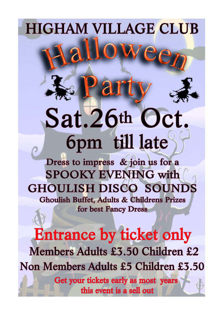 Halloween Party 26th October
