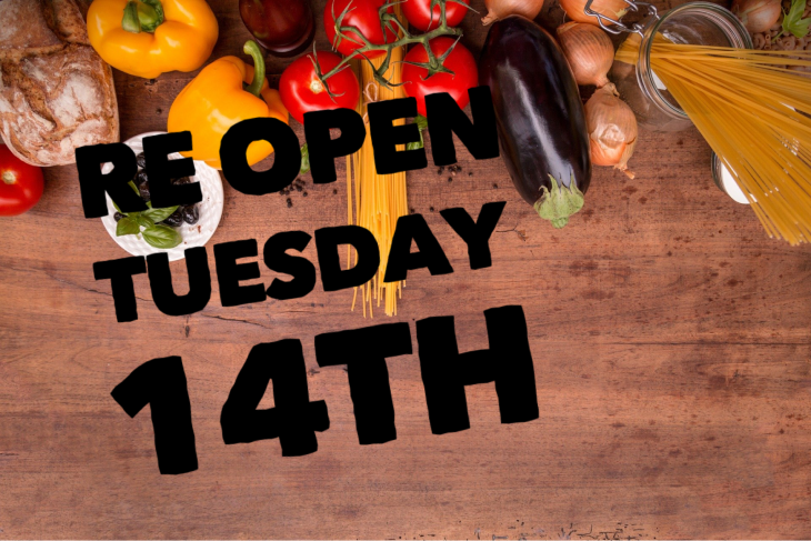 Re Open Tuesday 14th Jan