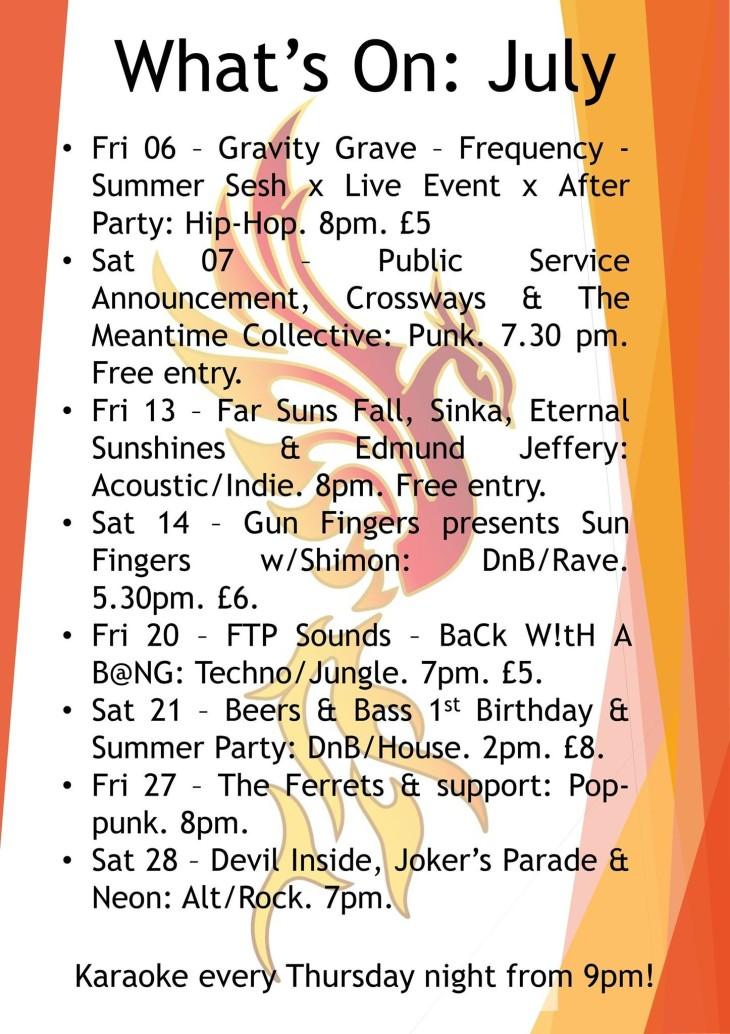 July gig guide