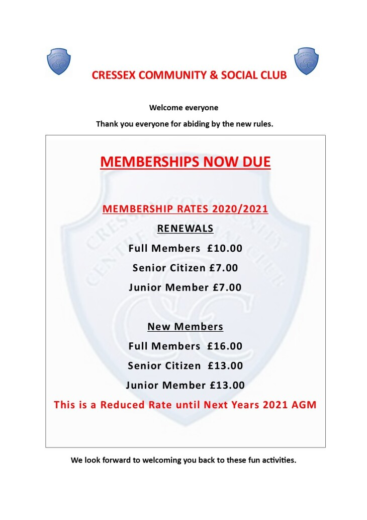Half year membership renewals