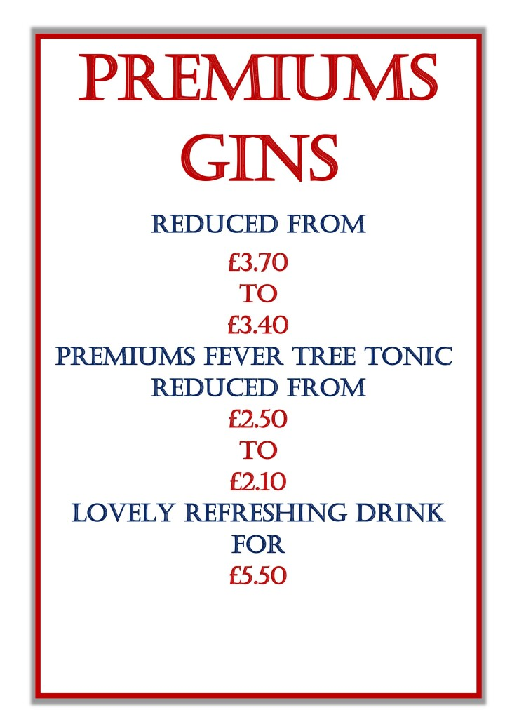 Premium Gins & Fever Tree Tonics