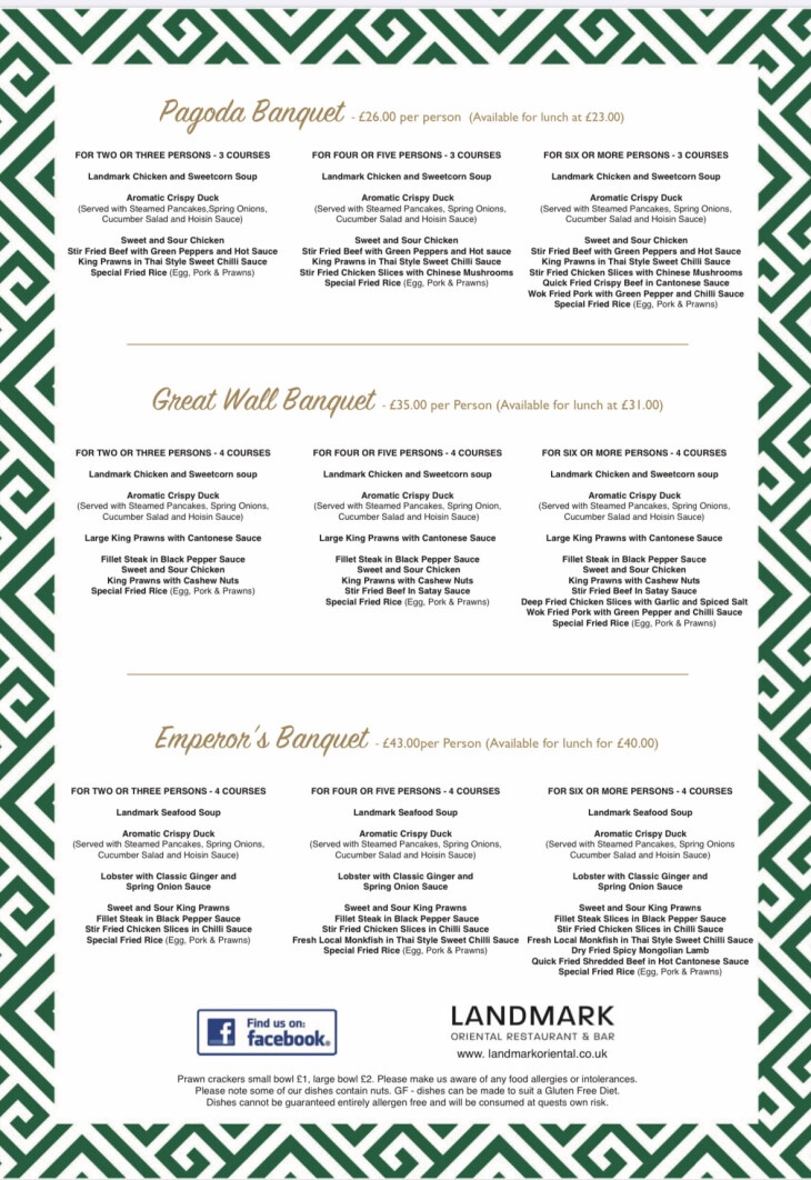 Valentine's Day 2020 menus.