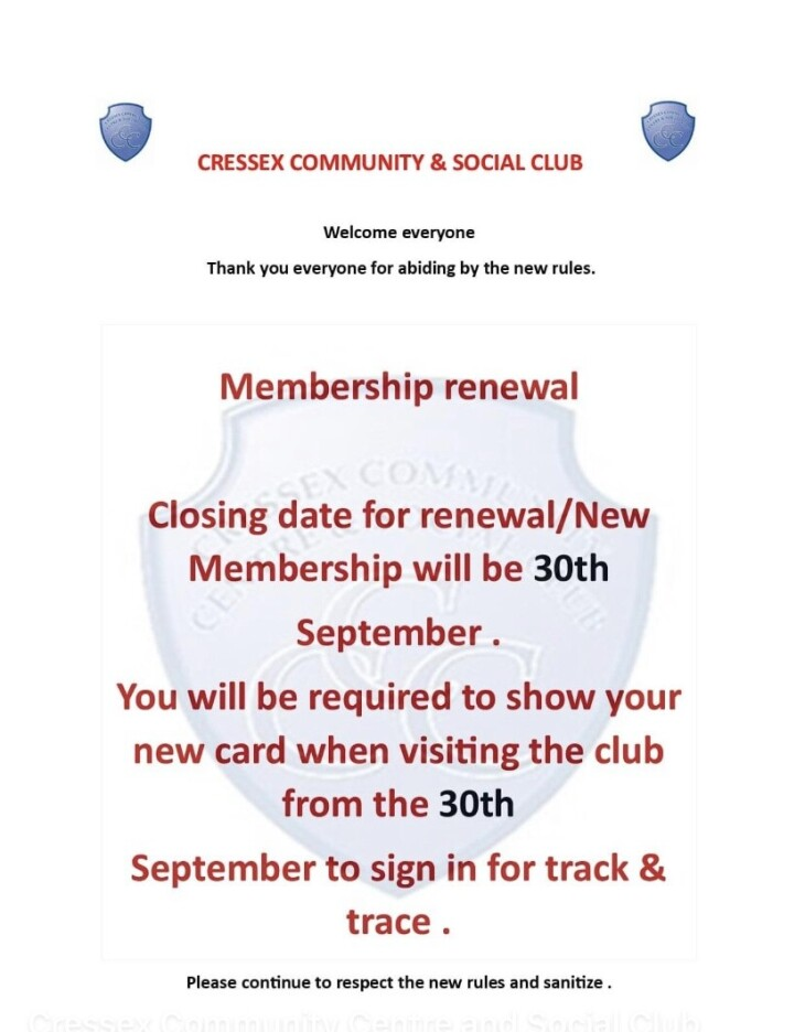 Membership closing notification