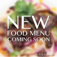 Coming soon - New food menu
